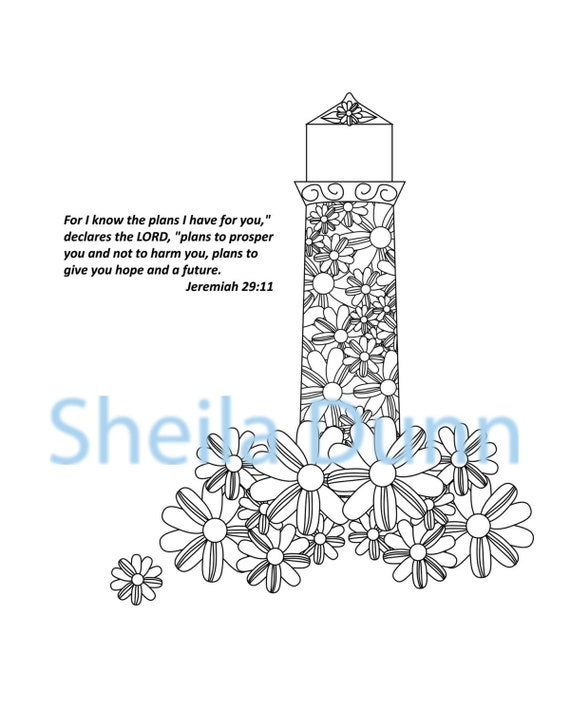 Lighthouse Coloring Page with Encouraging