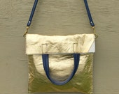 Gold Flat Tote/Crossbody ready to ship
