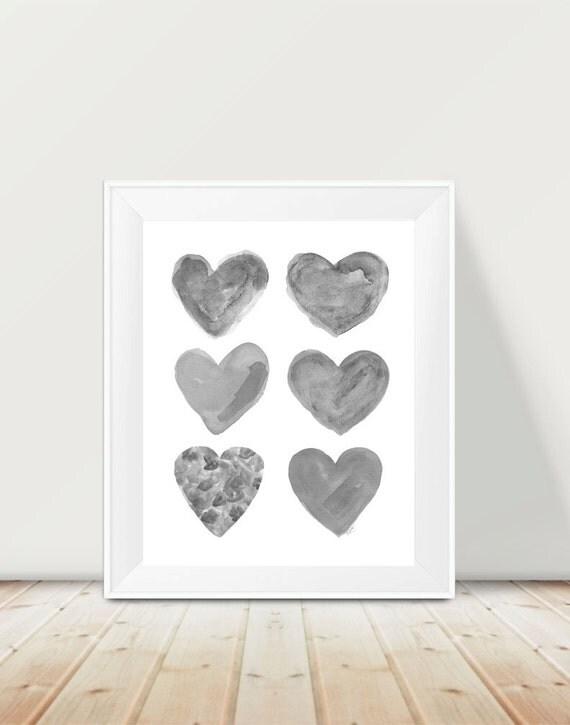 Gender Neutral Nursery Print, 11x14 Heart Collage