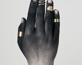 FYLGJA brass rings - set of 4