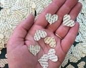 500 Book Hearts, Heart Confetti, Confetti, Hearts, Book Wedding, Heart Cut Outs