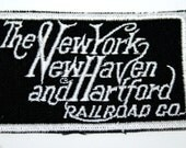 Vintage New York New Haven & Hartford Railroad Patch RR Train