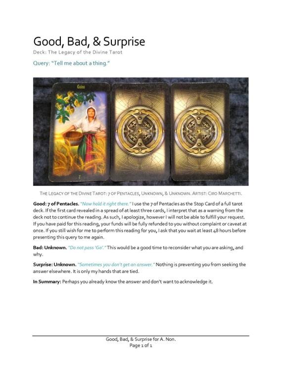 Good Bad & Surprise: A 3 Card Tarot Reading