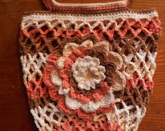 Netted Market Bag with Wildflower