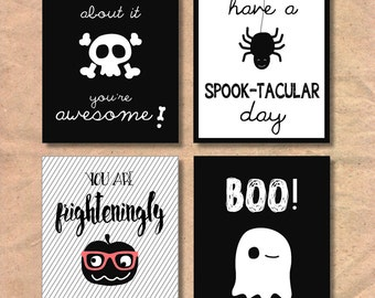 Instant Download Printable Children's Halloween Lunch Box Notes
