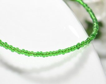 Green Anklet Kelly Green Ankle Bracelet Stacking Anklet - G23