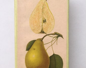 Sweet Pears Altered Matchbox