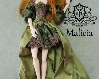 OOAK Art Doll Sculpture - Malicia - Sleeping Fairy by Ksheyna Nightswood