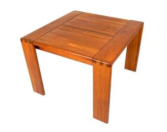 Mid Century Modern Square Teak Coffee Table Solid Teak Slate Wood Table Danish Modern Decor Modern Furniture Retro Scandinavian Home