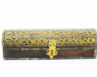 Antique Hand Crafted Pencil/Trinket Box