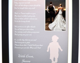 Wedding gifts for mother in law, gift thank you, wedding gifts inlaws, parents of the groom gift father in law, picture frame option