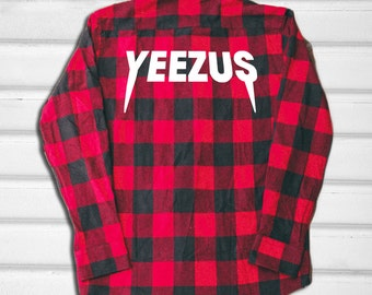 Yeezus Flannel Shirt - Red