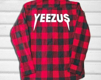 Yeezus Flannel Shirt - Red