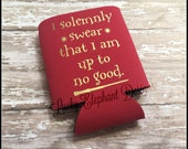 I Solemnly Swear that I am up to no Good Can Cooler - Mischief Managed Can Cooler - Harry Potter Can Sleeve - 13 Colors Available!