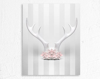 Antler Flower Crown Fine Art Photography
