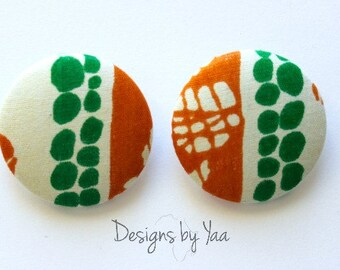 XL Wli Button Earrings