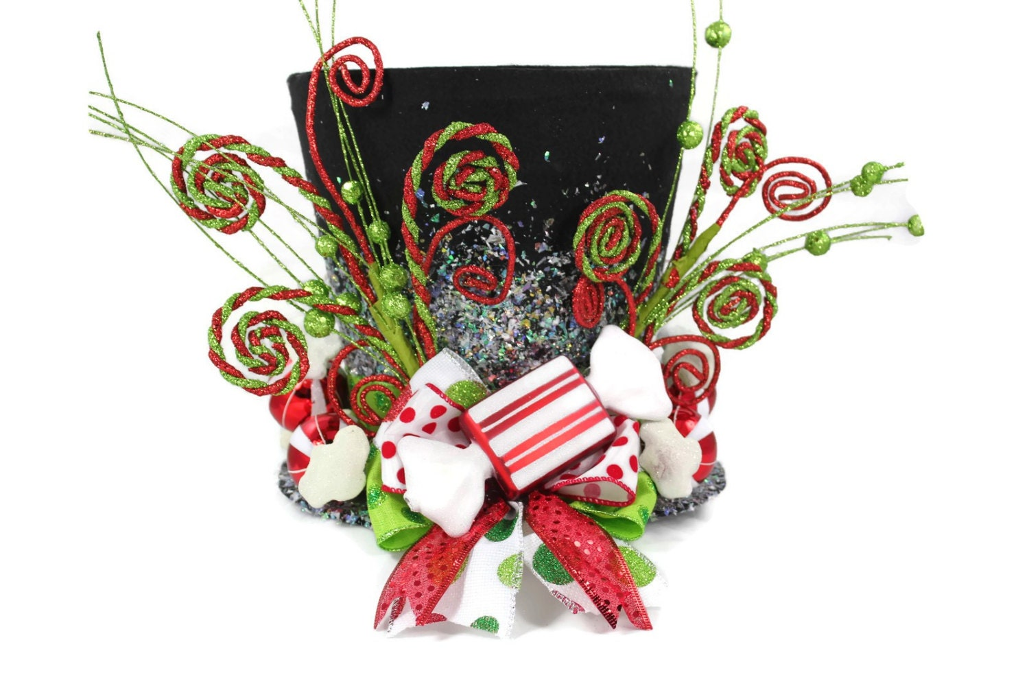 Candy Christmas Lighted Tree TopperCandy Cane Tree