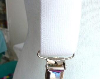 white suspenders - white wedding clothing for him