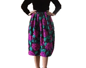 Vintage Designer Donna Morgan for Non Stop Velvet and Floral Dress