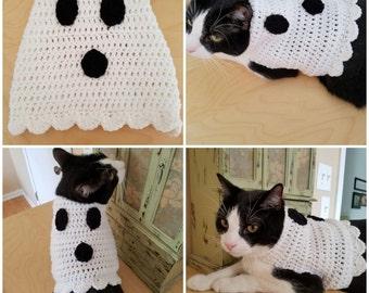 Ghost Cat Sweater/Costume