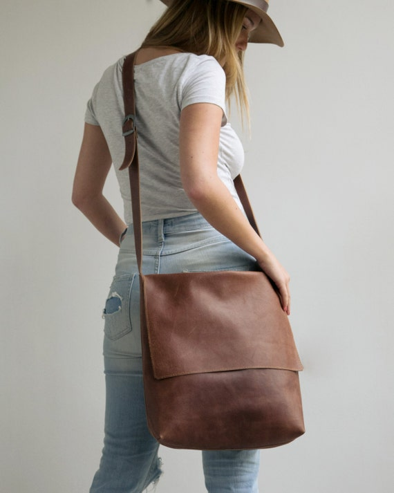 Leather Messenger Bag Womens Satchel Leather Cross Body Bag