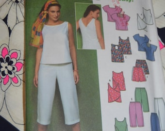 Simplicity 9269 Misses Topsand Pants or Shorts Sewing Pattern - UNCUT - Sizes 8 10 12 14