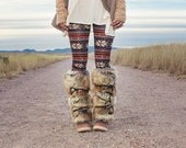 "Faux Fur Boot Covers Leg Warmers - Fuzzy Boots - 16"" - Faux Fox Fur - Lambskin Lined - NEW BLACK and GRAY Faux Fur Added!"