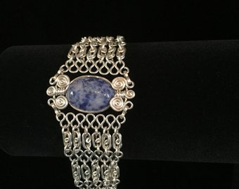 Denim Lapis and Sterling Silver Bracelet!