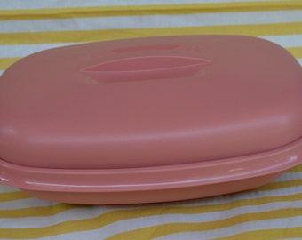 Vintage Tupperware Steamer Rose Pink 1273