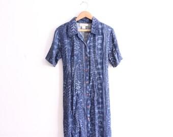 Batik Pattern 90s Mini Dress