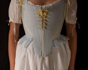 Marie Antoinette 18th Century Stays Corset Custom Period Costume Historical Underpinning for Reenactment LARP