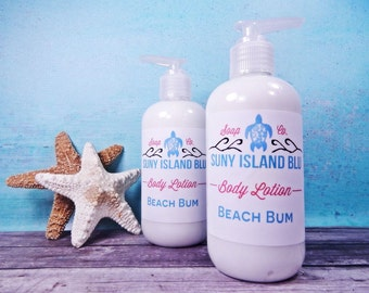Beach Bum Lotion - Body Lotion - Shea Butter Lotion - Aloe Vera Lotion - Beach Scented Lotion - Fragrant Lotion - Scented Lotion