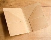 Kraft paper storage card folder for Traveler's Notebook - PASSPORT SIZE