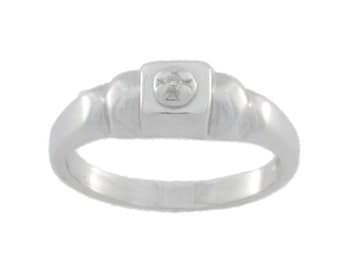 Natural Diamond Ring .925 Sterling Silver
