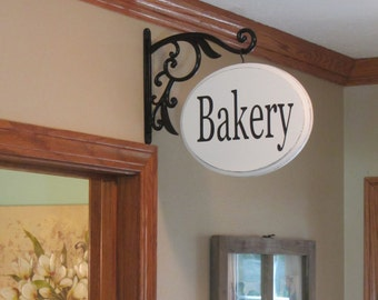French Country, Rustic, Glam Signs, Bracket Hanging, Bakery Sign