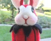 SHE-DEVIL Bunny - Made To Order - Halloween Decor - Devil - Autumn - Holidays - Costume - Diablo