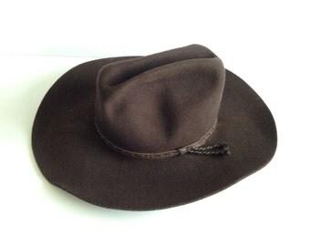 Vintage Silverado Brown Wool Cowboy Hat / Men's Size Large Cowboy Hat