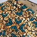 Congolese Fabric--African Wax Print Fabric--Java Print Fabric--Burnt Orange and Turquoise Leaves and Vines--African Fabric by the HALF YARD