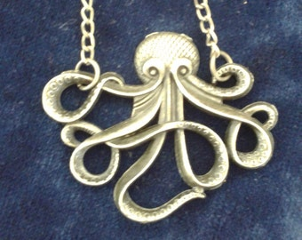 Bronze Tone Octopus Pendant Necklace Witchcraft Supply