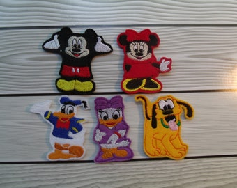 Mickey Mouse Finger Puppets With A Cute Storage Bag
