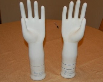 Matching Set of Hand Glove Molds Industrial
