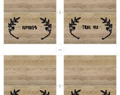 Scandi Woodland/Outdoor Printable Place Cards