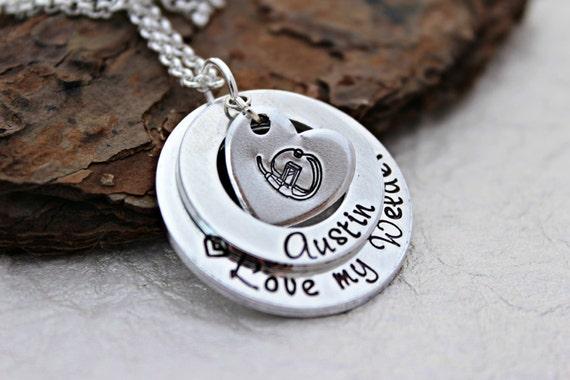love my welder necklace welder wife jewelry oilfield wife