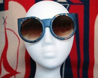 15% Off Big Tortoise Cat Eye Sunglasses Round Cateye Retro Glasses - Kitty