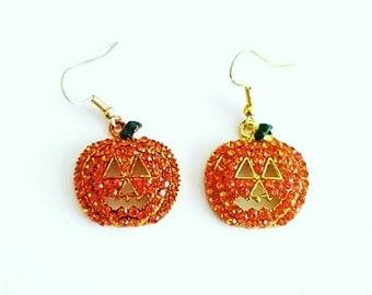 Halloween Jewelry, Pumpkin Earrings, Thanksgiving Earrings, Halloween Earrings, Drop Earrings, Holiday Jewelry, Fall Jewelry, Gifts For Her