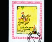 Adorable Postage Stamps from Sharjah - Giant Size - Illustrations of Children with Animals - 1972