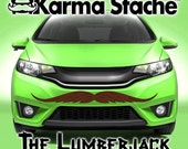 """48"""" Car Mustache Vinyl Decal Sticker - Style; Lumberjack - Color; Brown  -  Karma Stache: Your #1 Source for Car Mustaches!"""