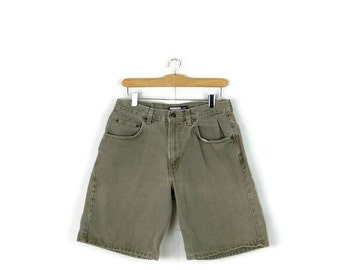 SALE!! Vintage  Faded Khaki Denim Shorts from 90's/W28*