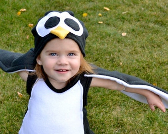 Fluffy Toddler Penguin Costume