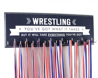Wrestling medal holder rack display wrestling school sports medals